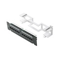 "Eagle 12 Port CAT5E Patch Panel Wall Mount Bracket  Network Mini Patch Panel 12 x RJ45 110-IDC 22 - 26 AWG 9 7/8"" W x 2 1/4"" H x 1 1/14"" D with Mounting Bracket RJ-45 CAT-5E Patch Panel Commercial Grade"