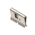 "Steren 310-372 Bridging Clip for 66-IDC Wiring Blocks Voice / Data Modular Telephone 66-IDC Split Block Wiring Clip 1/2"" W x 1/3"" H Reusable for Wire Changes Nickel Plated Brass Construction, Commercial Grade, Part # 310372"