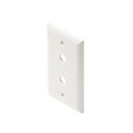 Eagle Wall Plate White 2 Hole Dual Port Hex Port Single Gang Wall Plate White Blank Coaxial Pass Through Connector Device Cable Hole 75 Ohm Plug Connector Nylon Flush Mount Cover