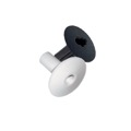 "Coax Feed Through Bushing RG6 Wall Cable 2 Pack Magnavox M61035 7/16"" Hole Insert Plug Thru Wall Trim Protector for Audio Video Data Wire, 1 Black / 1 White, Part # M-61035"