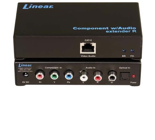 Linear COMP-CAT5-EXT Component Audio Extender COMPCAT5EXT Single CAT5 Cable  Extends Analog Component Video Audio by Gefen Digital Audio Transmitted