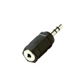 Steren 251-004 2.5mm Female to 3.5mm Male Plug Adapter Stereo 3.5 mm Male to 2.5 mm Female Stereo Headphone Audio Jack Signal MP3 Plug Connector, Part # 251004