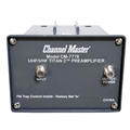 Channel Master CM-7778 Titan 2 Medium Gain Pre-Amplifier Mast Mount UHF VHF Outdoor Low Noise Power Supply 16 dB TV Antenna Signal Booster, 75 Ohm Open Box Item