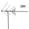 Channel Master CM-2018 Digital Advantage HDTV Antenna Mid-Range Outdoor Rooftop UHF VHF FM HD CM2018 Long Range HDTV 24 Element Outdoor TV Off-Air Signal Local Aerial 50 FT RG6 Coax With Gold F Connectors, RED ZONE, Part # 2018