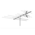 AntennaCraft HD-850 Terrestrial Digital HDTV Long Range Outdoor TV Antenna Heavy Duty VHF / UHF / FM 36 Element Off-Air Local High Definition Signal HDTV Television Aerial 50 FT RG6 Coax With Gold F Connectors, RED ZONE, Part # HD-850