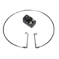 Eagle UHF Antenna Loop Inside 300 Ohm Chrome Plated Brass Swivel Bracket with 300 to 75 Ohm Balun Fits Back of TV Set Fully Adjustable Antenna Loop Enhances UHF Television Reception Swivel Leg Easy Connection