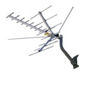 Channel Master CM2016 HDTV VHF High Band UHF TV Outdoor Antenna 45 Mile Directional Terrestrial 22 Element Off-Air Local HD TV Digital Signal Channel Television Aerial, RED ZONE