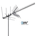 Channel Master CM-2020 Digital Advantage TV Antenna Long Range Outdoor Rooftop 60 Miles VHF UHF FM ADVANTAGEtenna 41 Element, BLUE ZONE 50 FT RG6 Coax With Gold F Connectors, Part # AN2020