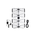 Electronic Master ANT-2092 HDTV Antenna 4-Bay UHF with Pre-Amplifier and Coaxial Cable Outdoor Digital Super Gain Booster 47 - 862 MHz CH 2 - 69 Gain 30 - 36 dB Heavy Duty Design Four Bay HD TV Aerial,RED ZONE, Part # ANT2092