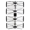 DIGIWAVE ANT-2094 HDTV Antenna 4-Bay UHF Outdoor TV Digital 47 - 860 MHz CH 2 - 69 Gain 12-15dB Heavy Duty Design Four Bay UHF HDTV Aerial, RED ZONE, Part # ANT2094