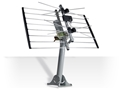 Channel Master CM-4220MHD Two Bay HDTV UHF Terestrial Antenna DB2 METROtenna 4220MHD Digital 2 Bay with J-Pipe Mount Aerial Bowtie Outdoor Roof Top Local Signal Bow Tie, GREEN ZONE, Part # CM4220MHD | With 50' FT Coax Cable