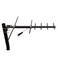 Channel Master CM-3010HD Outdoor Rooftop HDTV UHF/VHF/FM Stealth Digital TV Antenna Suburban HDTV Directional Yagi Off-Air Local Channel Signal Aerial, RED ZONE