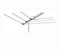 Digital HDTV Antenna 15 Element Terrestrial Off-Air Fringe UHF/VHF/FM Channel Master 3014 HD TV Outdoor Roof Top Local Television Aerial, LIGHT GREEN ZONE, Part # CM3014 | With 50' FT Coax Cable