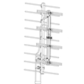 Winegard HD4400 4-Bay UHF ProStar High Definition Terrestrial Antenna 17 Element Off-Air Local Digital Signal Aerial, LIGHT GREEN ZONE | With 50' FT Coax Cable