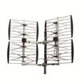 Electronic Master ANT-7288 8-Bay Multi-Directional Antenna Adjustable HDTV Antenna Outdoor DB8 Super Strong Design 360 Degree Digital UHF High Gain 20 - 36 dB 0 Mile 8 Element CH 21 - 69, BLUE ZONE, Part # ANT7288 | With 50' FT Coaxial Cable