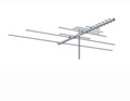 AntennaCraft AC13 VHF / UHF / FM Low Profile TV Antenna 16 Element Outdoor Off-Air Local Suburban High Definition Digital Signal HDTV Television Aerial, LIGHT GREEN ZONE, Part # AC-13 | With 50' FT Coax Cable