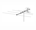 AntennaCraft 4BG15 VHF / UHF / FM HDTV Antenna 16 Perma Tuned Circuit Elements Permacolor Outdoor Off-Air Local Digital Signal HDTV Television Aerial, LIGHT GREEN ZONE, Part # 4BG-15 | With 50' FT Coax Cable