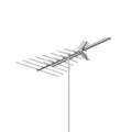 AntennaCraft C490 ColorStar HDTV VHF UHF FM Antenna 50 Element Deep Fringe Outdoor Television Local High Definition Digital Signal Reception 50 Element 50 FT RG6 Coax With Gold F Connectors, BLUE ZONE, Part # C-490