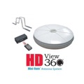 AntennaCraft HDView 360 Ministate RV Antenna System HDMS9100RV Omni Directional HDTV Digital Antenna UHF VHF with RV Mounting Brackets Amplified Aerial HD View 360, Internal Programmable Rotator, Remote Control, LIGHT GREEN ZONE, Part # HD MS-9100 RV