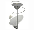 Omni Directional TV Antenna Amplified Outdoor EZ Dish HDTV Satellite Add-On VHF / UHF Off-Air Digital Local Signal Multi-Directional Aerial with 2 Built-In Diplexers for Dual LNB Systems, Part # EZD-222