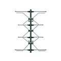 Terrestrial UHF Digital 4 Bay Antenna HDTV Multi-Directional High Performance Four Bay AntennaCraft Outdoor HD TV Reception Aerial for Local Off-Air Digital Fringe Signal, LIGHT GREEN ZONE, Part # G1483