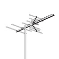AntennaCraft HBU22 High Band VHF UHF Digital Ready HDTV Antenna HBU22 Outdoor 22 Element Off-Air Local HD High Definition Digital Signal Television Aerial, LIGHT GREEN ZONE, Part # HBU-22