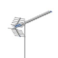 Digital HDTV UHF Deep Fringe Outdoor Terrestrial Antenna AntennaCraft MXU47 Maxus 47 Electronic Elements Directional Television Signal Rooftop Local Off-Air Digital HD Reception Aerial, BLUE ZONE, Part # MXU-47 | With 50' FT Coax Cable