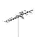 AntennaCraft HBU55 High Band UHF VHF HDTV Antenna Terrestrial Digital HD Ready HBU-55 Outdoor 53 Element Off-Air Local High Definition Signal Television Aerial, BLUE ZONE, Part # HBU55 | With 50' FT RG6 Coax Cable With Gold F Connectors