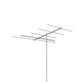 AntennaCraft Y5-2-6 Low Band Broadband VHF Antenna Yagi Series Digital HD Lowband VHF TV Aerial 5 Electronic Elements Directional Local Channels 2 - 6 Off-Air HDTV Signal Reception, BLUE ZONE, Part # Y526