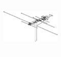 Winegard PR-7000 Outdoor TV Antenna ProStar 1000 10 Element VHF / UHF / FM Off-Air Local High Definition Digital Signal Aerial, LIGHT GREEN ZONE, Part # PR7000 | With 50' FT Coax Cable