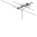 Winegard HD7000R VHF / UHF HDTV Antenna Terrestrial Digital 10 Element Yagi Style Off-Air Local HD TV Antenna Signal Outdoor Television Aerial, 75 Ohm, LIGHT GREEN ZONE, Part # HD7000R | With 50' FT Coax Cable