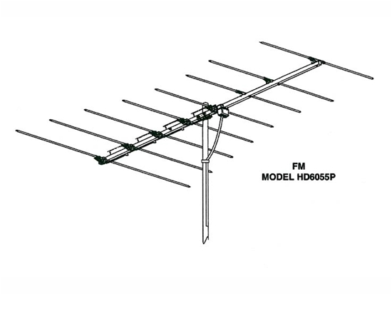 Winegard HD6055P FM Antenna 8 Element Local Off-Air FM Radio Rooftop Aerial  Outdoor Digital Stereo Reception Signal, 75 Ohm, Part # HD6055P |
