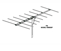 Winegard HD6055P FM Antenna 8 Element Local Off-Air FM Radio Rooftop Aerial Outdoor Digital Stereo Reception Signal, 75 Ohm, Part # HD6055P | Refurbished Item