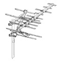 Winegard HD9065P UHF TV Antenna Platinum HD-9065 23 Element Outdoor Digital Aerial Off-Air Local Signal HDTV Channel, RED ZONE, Part # HD-9065P | With 50' FT Coax Cable