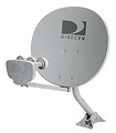 DIRECTV 1820 Triple LNB Multi-Satellite Dish 18 In x 20 In OD1820 1820 Oval Elliptical Calamp Phase 3 DSS DBS Digital Signal with Integrated Multiswitch and Feed Mount Assembly, 101-110-119