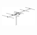 Winegard YA-6713 Yagi ProStar VHF TV Antenna 13 Element Off-Air Broadband Channel 7-13 High Definition Local Channel Outdoor Signal Aerial, RED ZONE, Part # YA6713 | With 50' FT Coax Cable