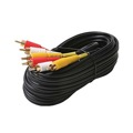 Eagle 8' FT RCA Cable 3 RCA Males Each End Composite Audio Video Gold Shielded RG59 Coaxial Stereo A/V Dubbing Cable Heavy Duty Fully R/Y/W DIRECTV Triple A/V Stereo Digital Signal Hook-Up RG-59 Jumper with Plug Connectors