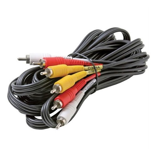 DIRECTV Composite Cable 3 RCA Male 8\' FT Video Triple Connect RED ...