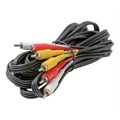 Steren Composite Cable 3 RCA Male to 3 RCA Male 8' FT Video Audio Triple Connect RED YELLOW WHITE DIRECTV A/V Stereo Shielded Digital Signal DVD VCR Hook-Up Jumper with Plug Connectors