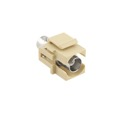 Vanco BNC Keystone Insert Plug Almond Female to Female Connector Coupler Modular Jack QuickPort Audio Video Snap-In, Wall Plate Snap-In Data Junction Component Connection