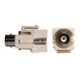 Steren 310-410LA BNC Keystone Insert Jack Light Almond Coupler Female to Female Plug Modular Connector QuickPort Audio Video Snap-In, Wall Plate Snap-In Data Junction Component Connection, Part # 310410-LA