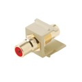 Steren 310-461IV-10 RCA Keystone Insert Connector Jack 10 Pack RED Band Ivory QuickPort Audio Video Snap-In, Wall Plate Snap-In Data Junction Component Connection, Part # 310461IV-10