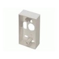 Keystone Surface Mount Junction Box White QuickPort Audio Video Data Snap-In Network Module Wiring Installation Box, Part # Leviton 40851-W, 40851W
