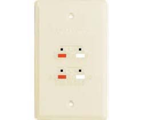 RCA Speaker Jack Wall Plate Ivory 4 Terminal Dual Cable Wire ...