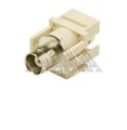 Steren 310-410-IV BNC Keystone Insert Plug Ivory Connector Coupler Modular Jack QuickPort Audio Video Snap-In, Wall Plate Snap-In Data Junction Component Connection, Part # 310410IV