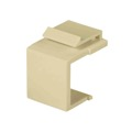 Eagle 210-420AL Blank Keystone Jack Insert Almond Cover Wall Plate QuickPort Plug Flush Mount Snap-In Modules, Audio Video Data Junction Box Snap-In Network Jack, Single, Part # 310420-AL
