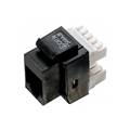 Steren 310-110BK-10 CAT5E Keystone Jack Black RJ45 Insert 180 Degree Entry Point 8P8C Modular Coupler Cat 5e 10 Pack Network RJ-45 QuickPort 8 Wire Twisted Pair Telephone Snap-In Insert Data Telecom, Part # 310110-BK-10