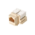 Steren 310-120IV-10 CAT5e RJ45 Keystone Jack Insert Ivory 110 Style Modular Ethernet Connector Network 8P8C 8 Wire Twisted Pair QuickPort Telephone Wall Plate Snap-In Insert Data Telecom, 10 Pack, Part # 310120-IV-10