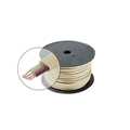 Eagle 4 Wire Conductor 250' FT Bulk Modular Phone Line Cord Cable Flat Ivory Telephone Line Cord Stranded Cable 28 AWG Line Modular Standard Flat Wire Data Audio Signal Transfer Telephone Extension Hook-Up