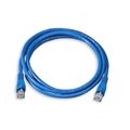 Vanco 1' FT CAT5e UTP Patch Cable Copper Blue RJ45 350 MHz Flush Molded Booted RJ-45 Network Snagless 24 AWG Stranded Male to Male Enhanced Category 5e High Speed Ethernet Data Computer Gaming Jumper